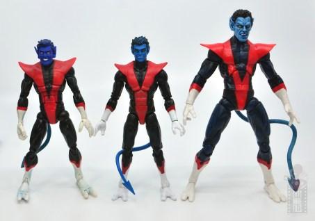 marvel legends nightcrawler figure review with custom toy biz figure and marvel select nightcrawler