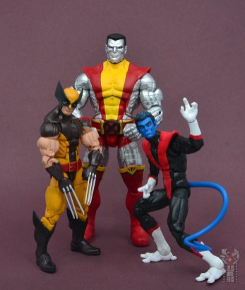 marvel legends nightcrawler figure review with wolverine and colossus