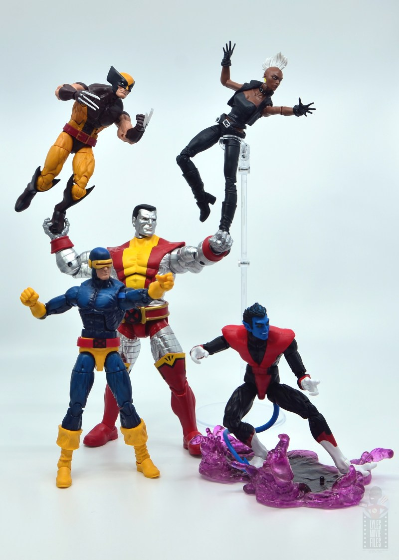 marvel legends nightcrawler figure review - x-men heading into battle