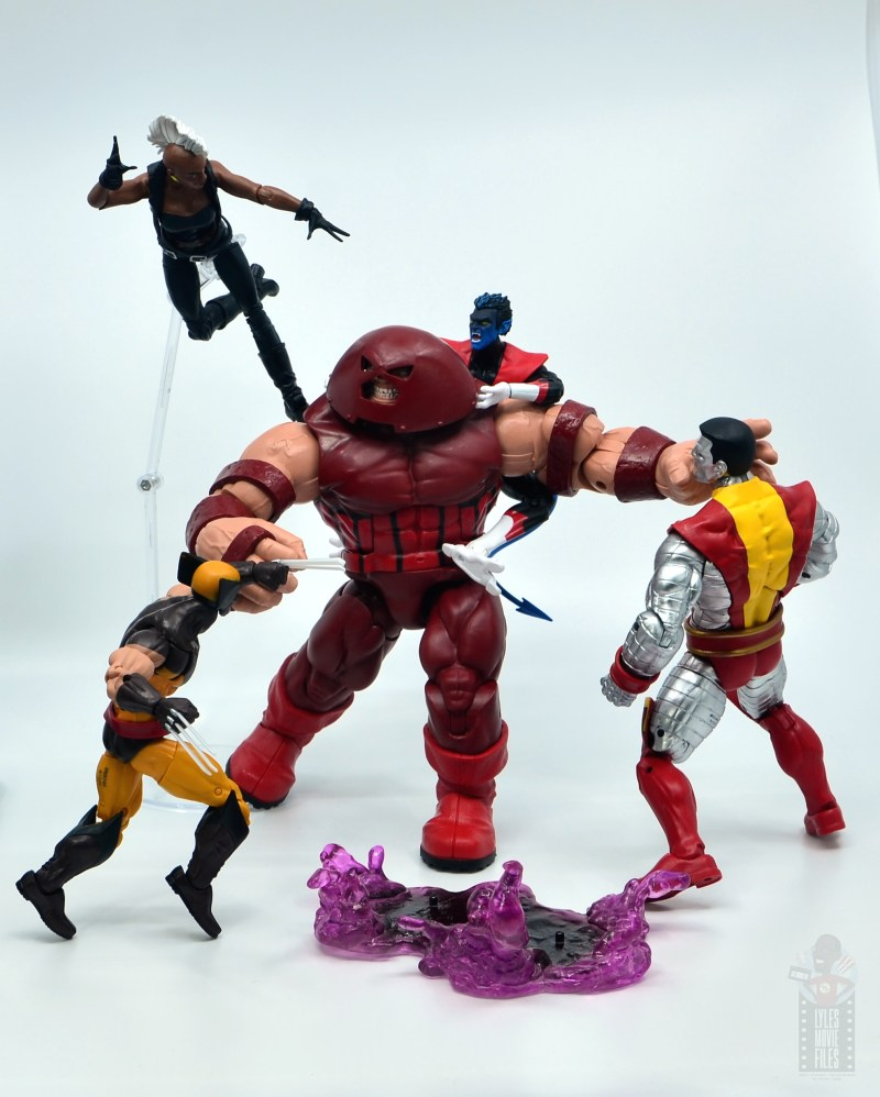 marvel legends nightcrawler figure review x-men vs juggernaut