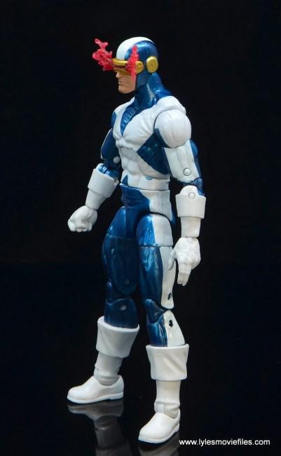 marvel legends x-factor cyclops figure review - left side