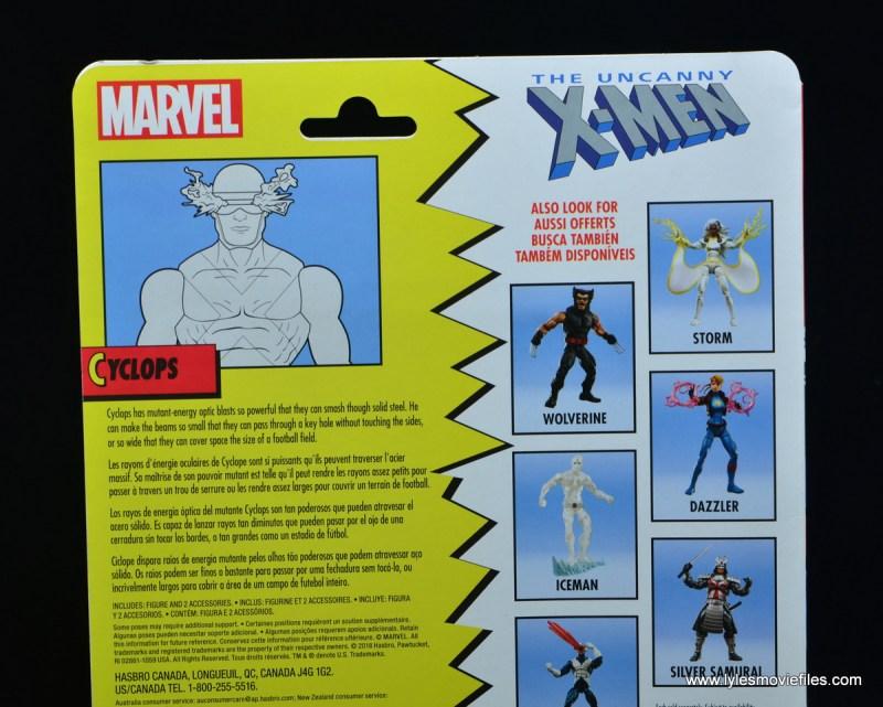 marvel legends x-factor cyclops figure review - package bio