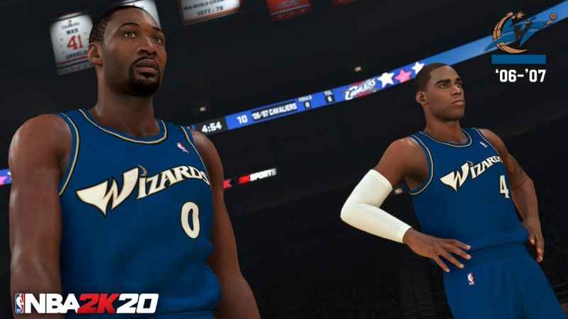 nba 2k20 classic teams - '06-'07 washington wizards