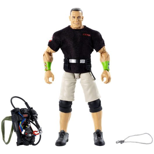 wwe ghostbusters john cena figure - all accessories