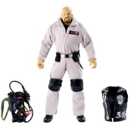 wwe ghostbusters stone cold steve austin figure - all accessories