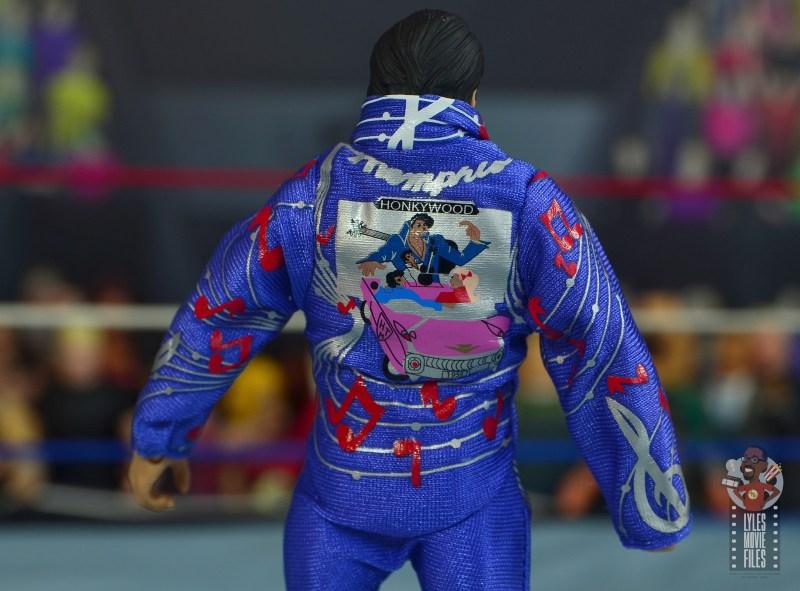 wwe retrofest honky tonk man figure review - jumpsuit detail