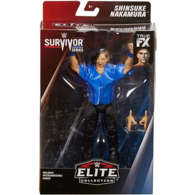 wwe survivor series elite shinsuke nakamura figure - package