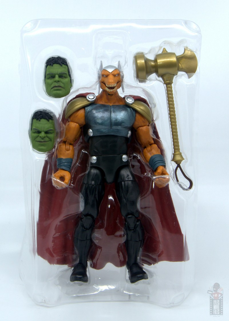 Marvel Legends Beta Ray Bill figure review - accessories in tray