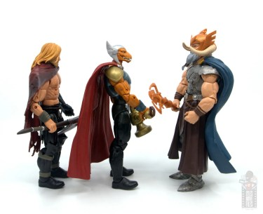 Marvel Legends Beta Ray Bill figure review - facing odin with unworthy thor