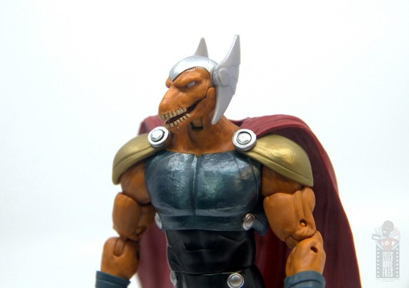 Marvel Legends Beta Ray Bill figure review - head sculpt detail
