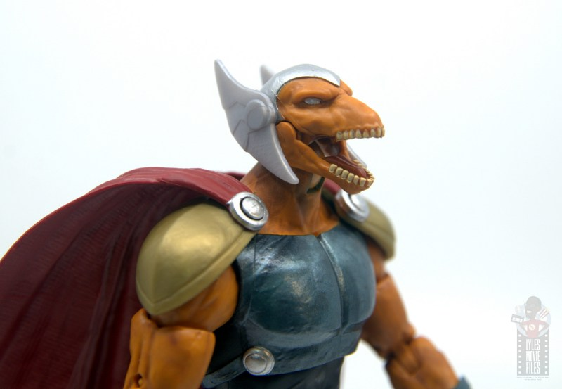 Marvel Legends Beta Ray Bill figure review - jaw close up