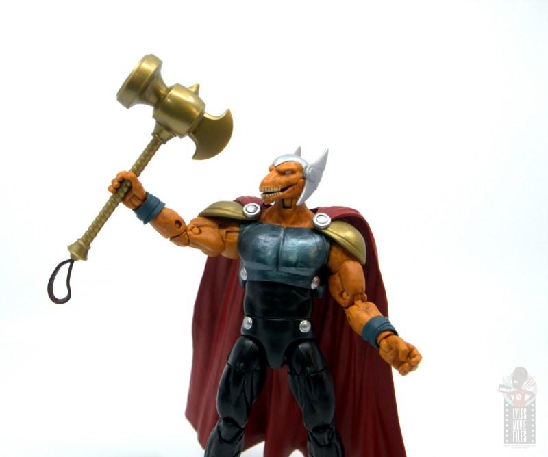 Marvel Legends Beta Ray Bill figure review - lifting up stormbreaker
