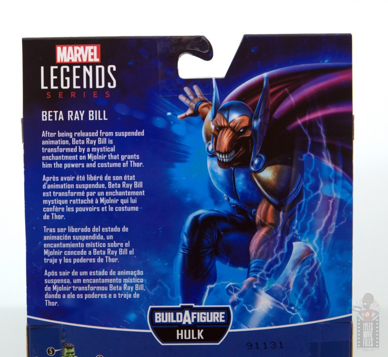 Marvel Legends Beta Ray Bill figure review - package bio