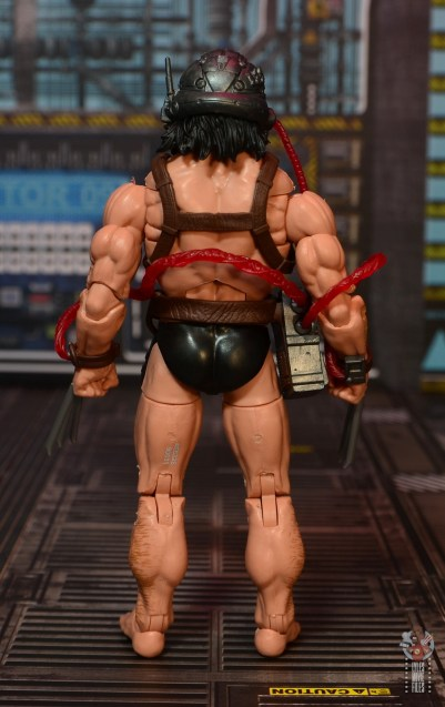 Marvel Legends Weapon X figure review - rear