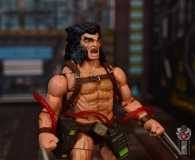 Marvel Legends Weapon X figure review - unmasked head close up