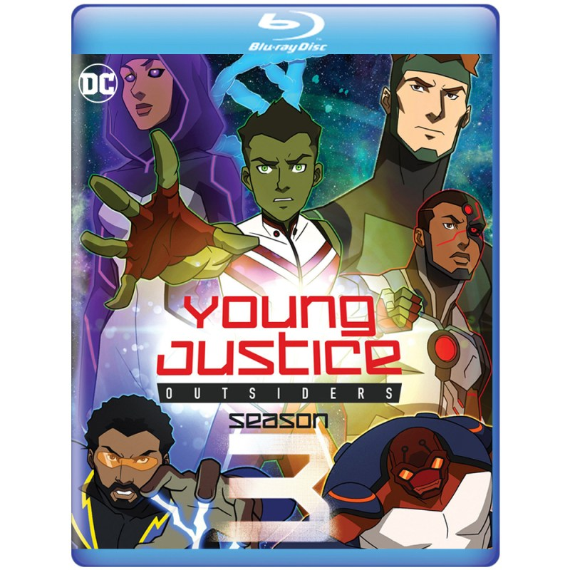 young justice outsiders season 3 blu ray cover