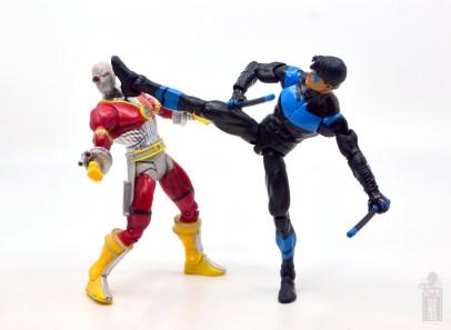 dc multiverse nightwing figure review - kicking deadshot