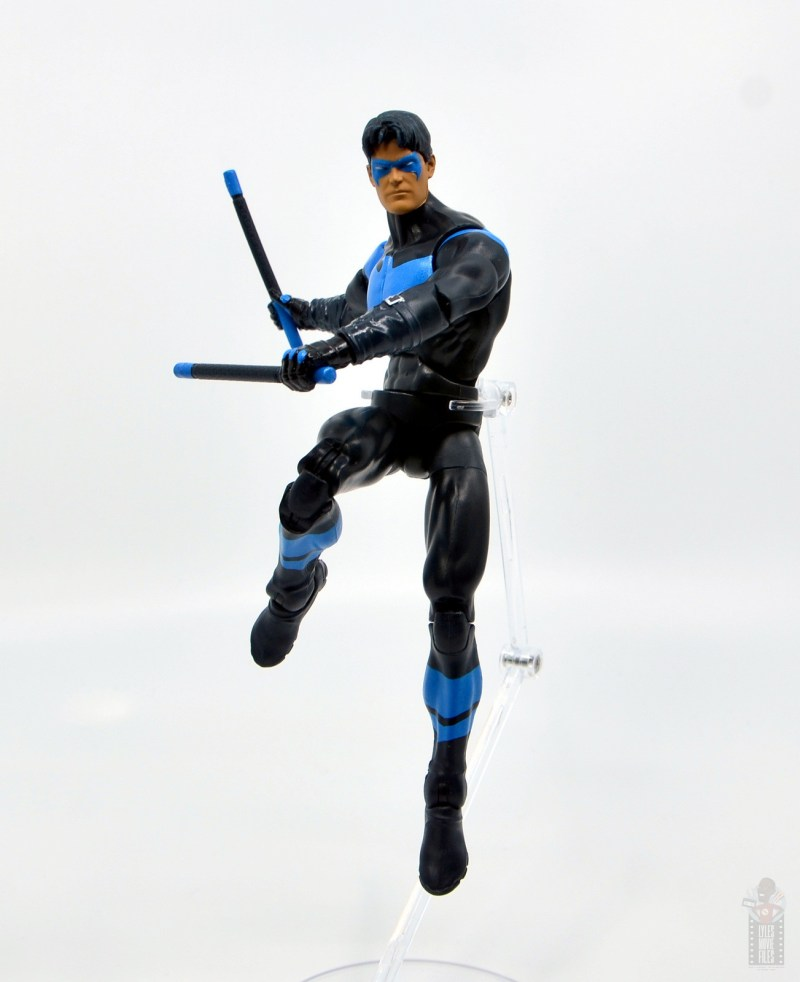 dc multiverse nightwing figure review -launching into battle