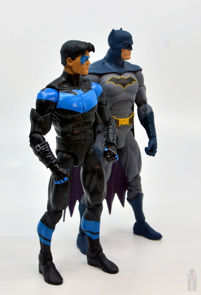 dc multiverse nightwing figure review - with dc essentials batman