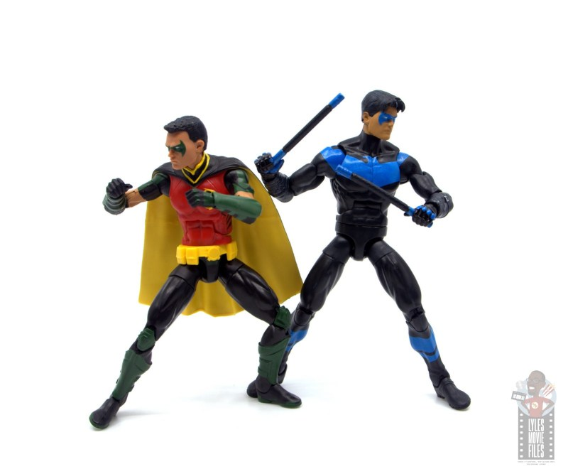 dc multiverse red robin figure review -back to back with nightwing