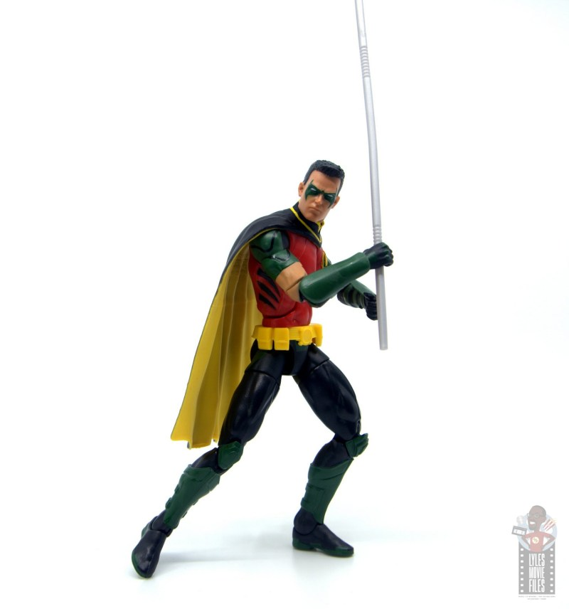 dc multiverse red robin figure review - raising bo staff
