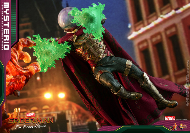 hot toys spider-man far from home mysterio figure - firing blasts