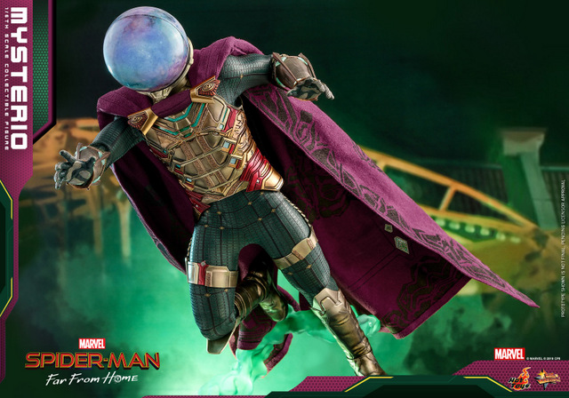 hot toys spider-man far from home mysterio figure - hovering