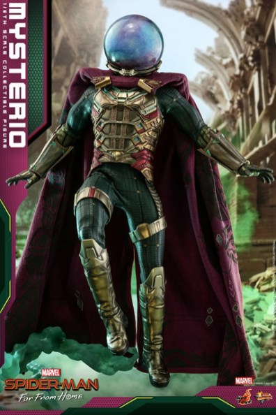 hot toys spider-man far from home mysterio figure - landing
