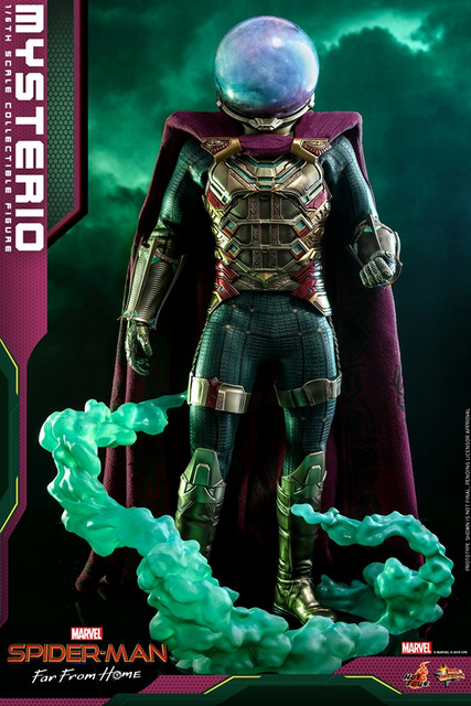 hot toys spider-man far from home mysterio figure - smoke trail