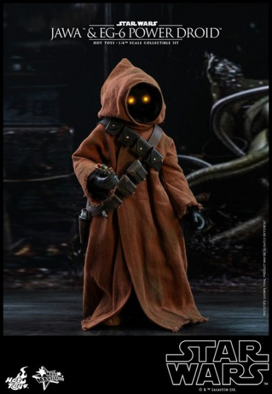 hot toys star wars Jawa and EG-6 Power Droid Collectible figure set - holding compactor device