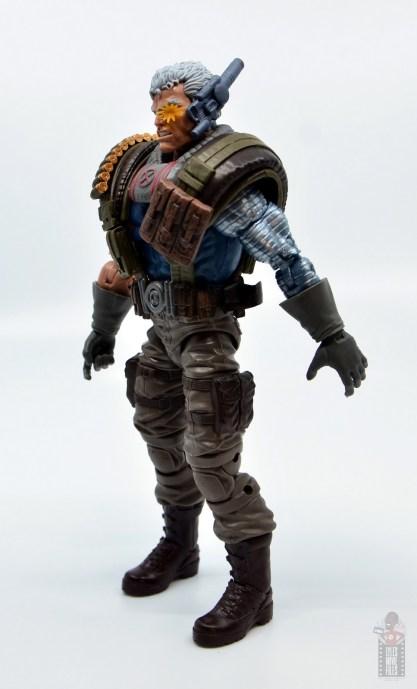 marvel legends cable figure review - left side