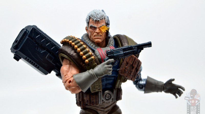 marvel legends cable figure review - main wide pic