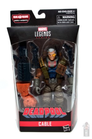 marvel legends cable figure review - package front
