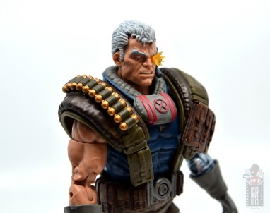 marvel legends cable figure review - right side close up