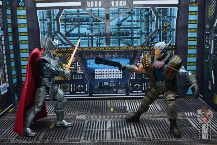 marvel legends cable figure review - vs stryfe