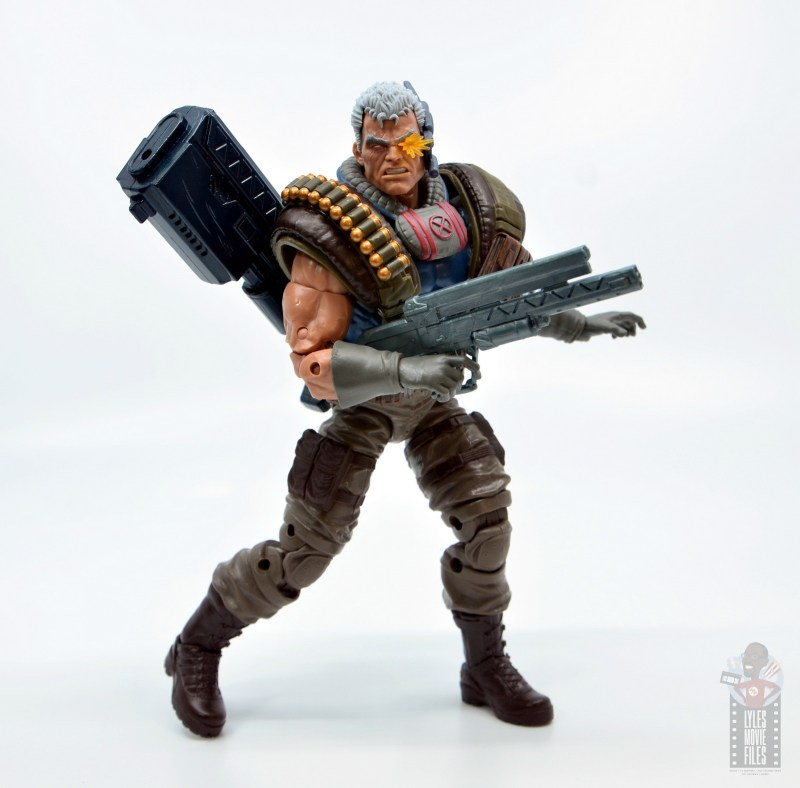 marvel legends cable figure review -with alternate gun