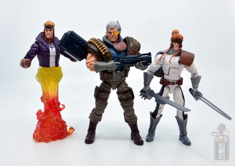 marvel legends cannonball figure review - scale with cable and shatterstar