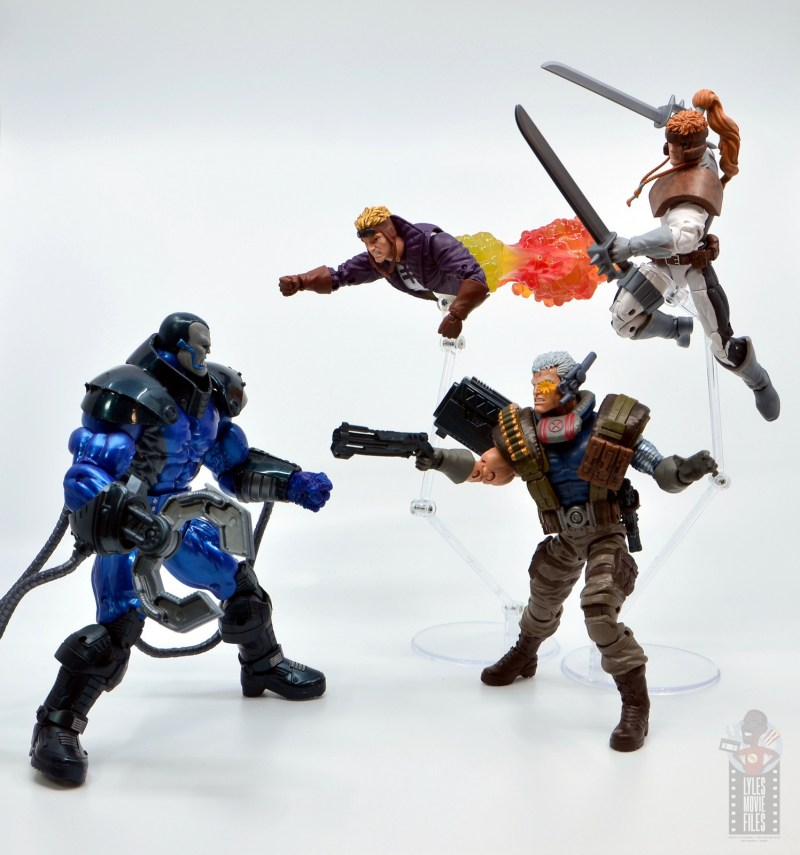 marvel legends cannonball figure review - vs apocalypse with cable and shatterstar