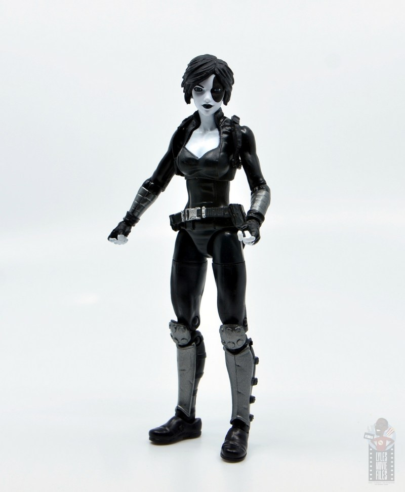 marvel legends domino figure review - at attention