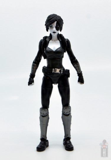 marvel legends domino figure review - front