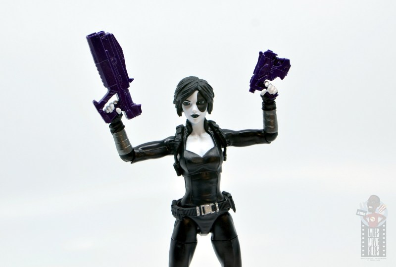 marvel legends domino figure review - guns up