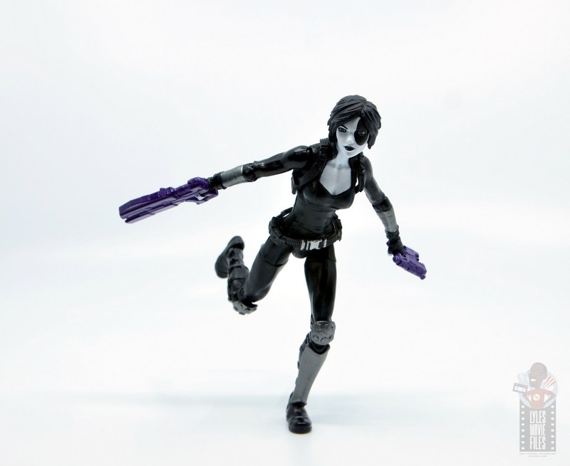 marvel legends domino figure review - on the run