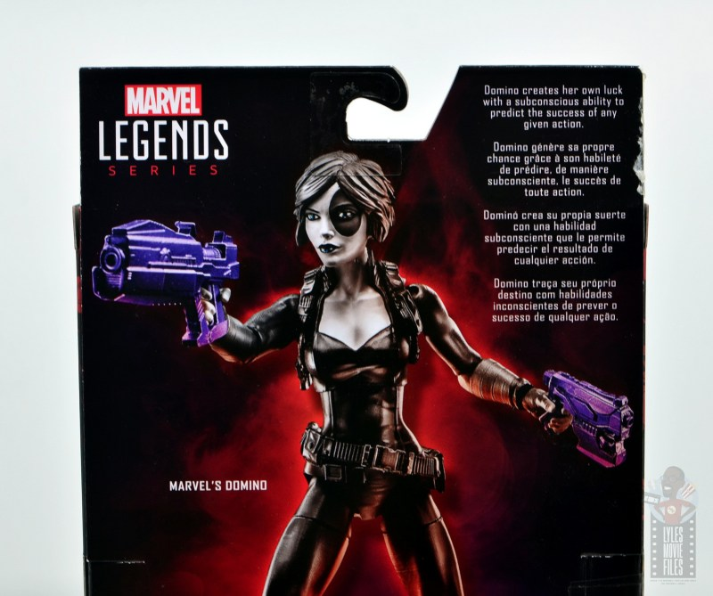 marvel legends domino figure review - package bio