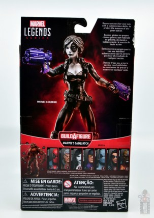 marvel legends domino figure review - package rear