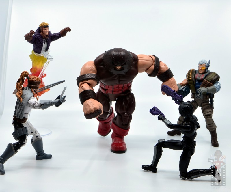 marvel legends domino figure review - x-force vs juggernaut