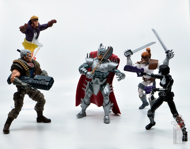 marvel legends domino figure review - x-force vs stryfe