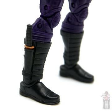marvel legends paladin figure review - boot detail