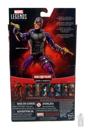 marvel legends paladin figure review - package rear