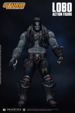 storm collectibles injustice gods among us lobo figure - front
