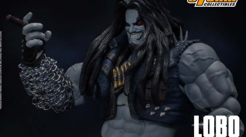 storm collectibles injustice gods among us lobo figure - holding cigar